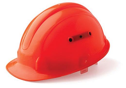 На снимке красная каска для прорабов и главных инженеров