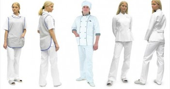 На снимке разные виды спецодежды для поваров