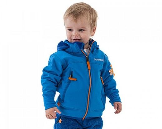 Ткань софтшел достаточно активно используется и в детской одежде