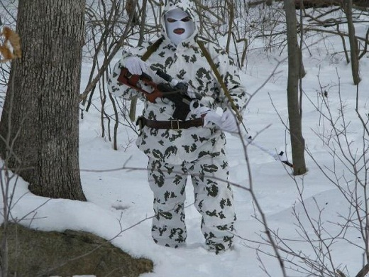 Камуфляж зимний КГБ Березка на снимке