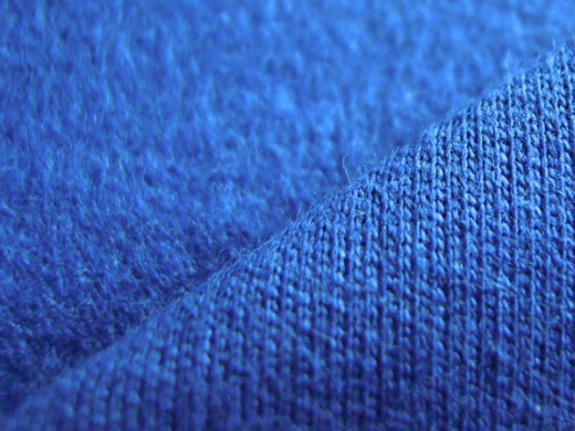 На фото показана текстура ткани футер