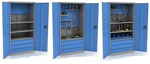 На фото различные инструментальные шкафы