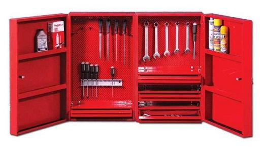 Навесной инструментальный шкаф на фото