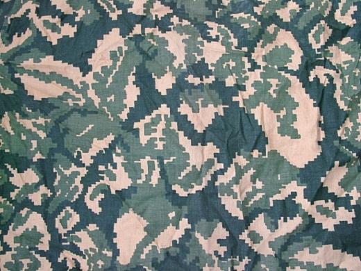 На фото представлена расцветка камуфляжа Березка в близи