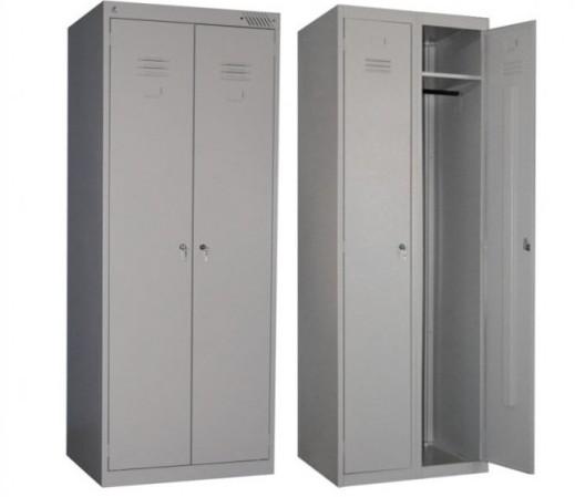 Шкаф для спецодежды ШРМ 22/800 представлен на фото