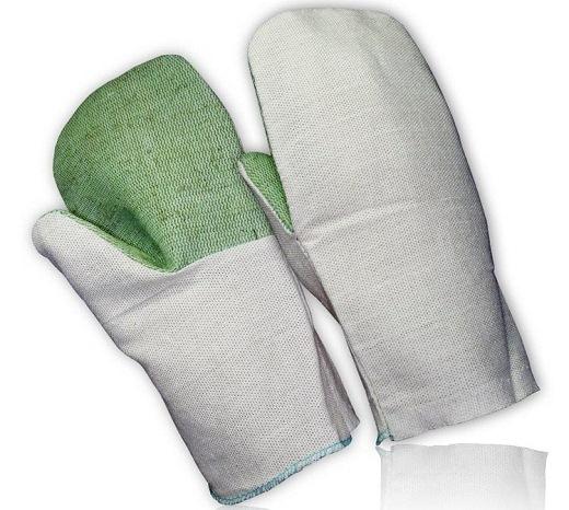 На фото представлены защитные рукавицы с брезентовым наладонником