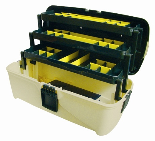 На фото пример ящика для инструментов с дополнительными разделами