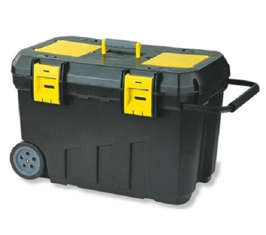На фото пример ящика для инструментов на колесах