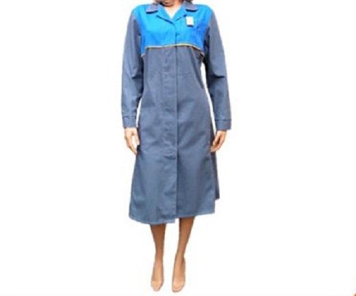 Плащ-халат из ткани дрилл саржа для медицинских работников