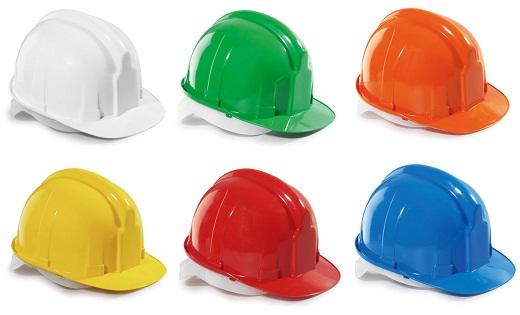 Различные виды строительных касок на фото