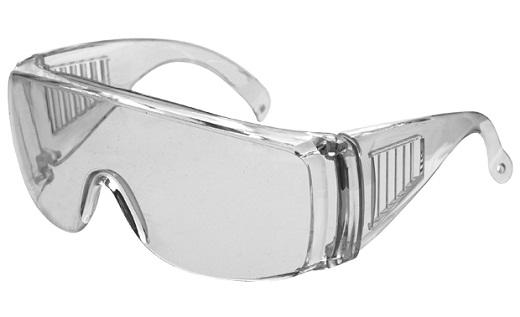 Защитные очки для работы с болгаркой открытого типа на фото