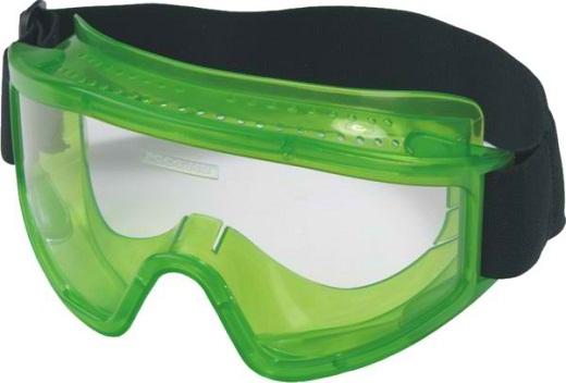 На фото представлены защитные очки для работы с болгаркой закрытого типа