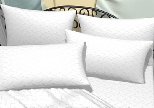 На фото пример постельного белья из отбеленного поликоттона под жаккард