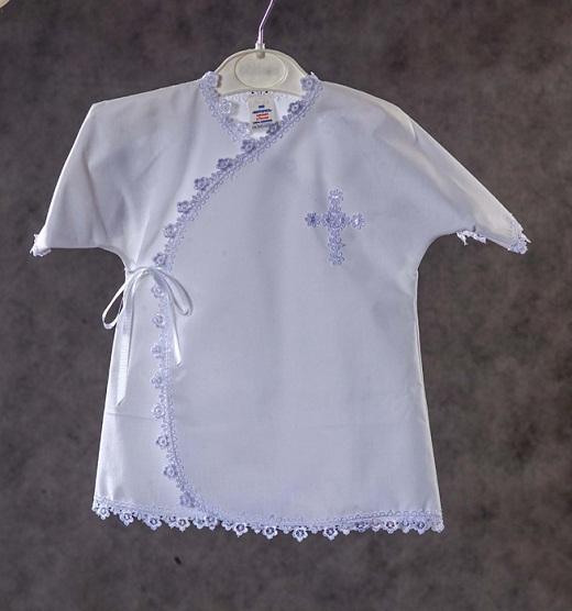 Рубашка крестильная на снимке для малыша