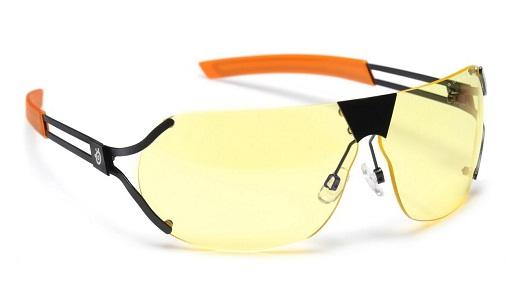 На фото представлены очки для компьютера с линзами желтого цвета