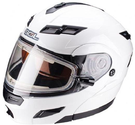 Зимний шлем для вождения квадрацикла на снимке