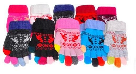 Размер детских перчаток выбираются по возрасту