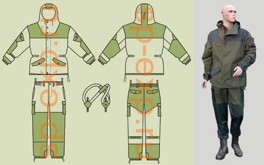 Камуфлированный костюм Горка фирмы Барс