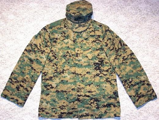 На снимке пример американского камуфляжа Marpat, используемым морскими пехотинцами