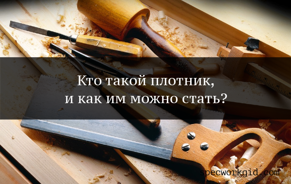 Профессия плотник